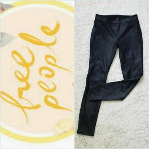 Free People suede like stretch pull on skinny pant